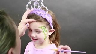 DIY Kids Face Paint   Decorative Flower Fairy Face Paint