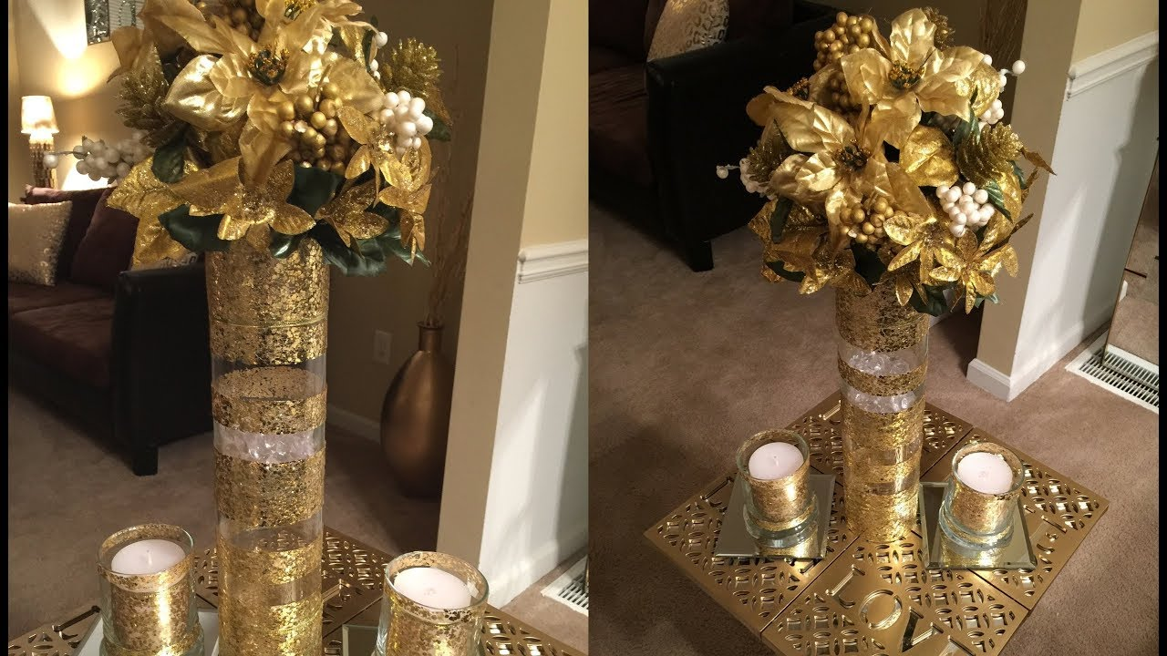 Dollar Tree Diy Beautiful Gold Vase Youtube