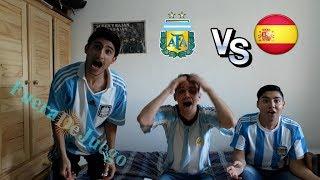 ARGENTINA vs ESPAÑA - AMISTOSO INTERNACIONAL - FUERA DE JUEGO// REACCIONES DE AMIGOS