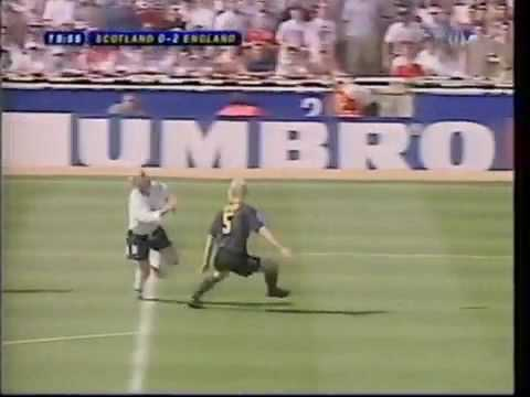 Paul Gascoigne Goal for England v Scotland at Wembley Euro 96