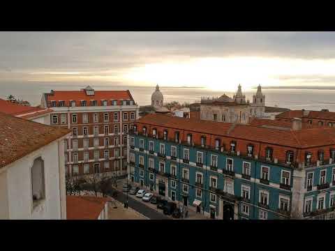 Drone Flight Over Graca in Lisbon - Good Morning Sunshine - DJI Spark