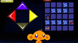 Monkey GO Happy: Bats -- Stage 14 Walkthrough