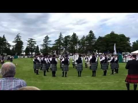 ScottishPower Pipe Band, Forres 2015.