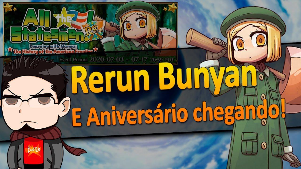 [Fate Grand Order] Rerun da Bunyan e Aniversário chegando