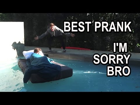 WAKING UP IN A POOL!! (PRANK)