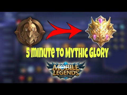 Tutorial/How To Push Rank Mythic Glory Only 5 Minutes!!MOBILE LEGENDS BANG BANG