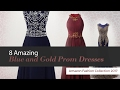8 Amazing Blue and Gold Prom Dresses Amazon Fashion Collection 2017