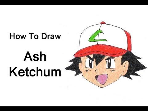 How to Draw Ash Ketchum (Pokemon) - YouTube