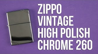 Распаковка Zippo Vintage High Polish Chrome 260
