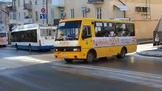 Как в Севастополе заносит автобусы, троллейбусы - городские службы не готовы к зиме. Гололёд Крым(, 2016-12-05T12:44:46.000Z)