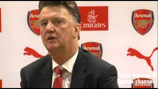 Louis Van Gaal reaction Arsenal vs Manchester United