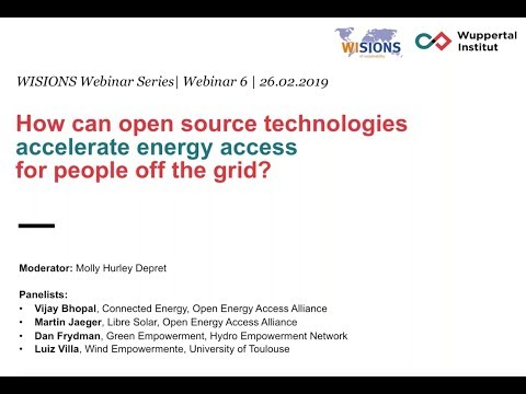 How can open source technologies accelerate energy access for people off the grid