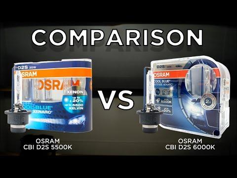osram cbi d2s 5500k vs osram cbi d2s 6000k 66240cbi youtube. Black Bedroom Furniture Sets. Home Design Ideas