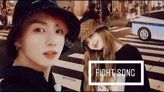 🐰Lizkook🐰 Lisa (blackpink) & Jungkook (bts) • fight song • [fmv]