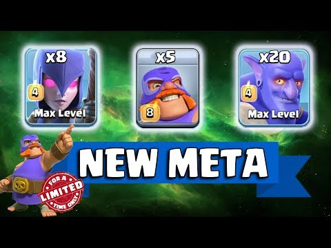 5 EL Primo + 20 Bowler + 8 Witch=New Meta Ground Army 3 Star Th12 Max | New Troops Th12 Attack 2018