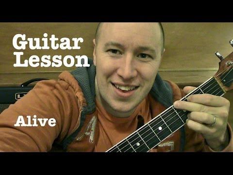 Alive- Guitar Lesson / Tutorial (TABS) Krewella (Standard Chords Version)