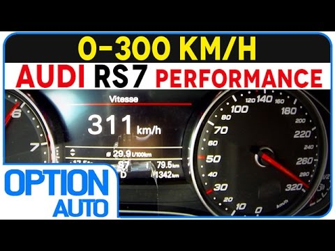 ★ 0-300 km/h • Audi RS7 Sportback Performance (Option Auto)