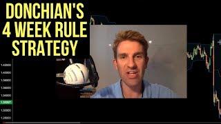 Donchian's 4 Week Rule Trend Trading Strategy 💡