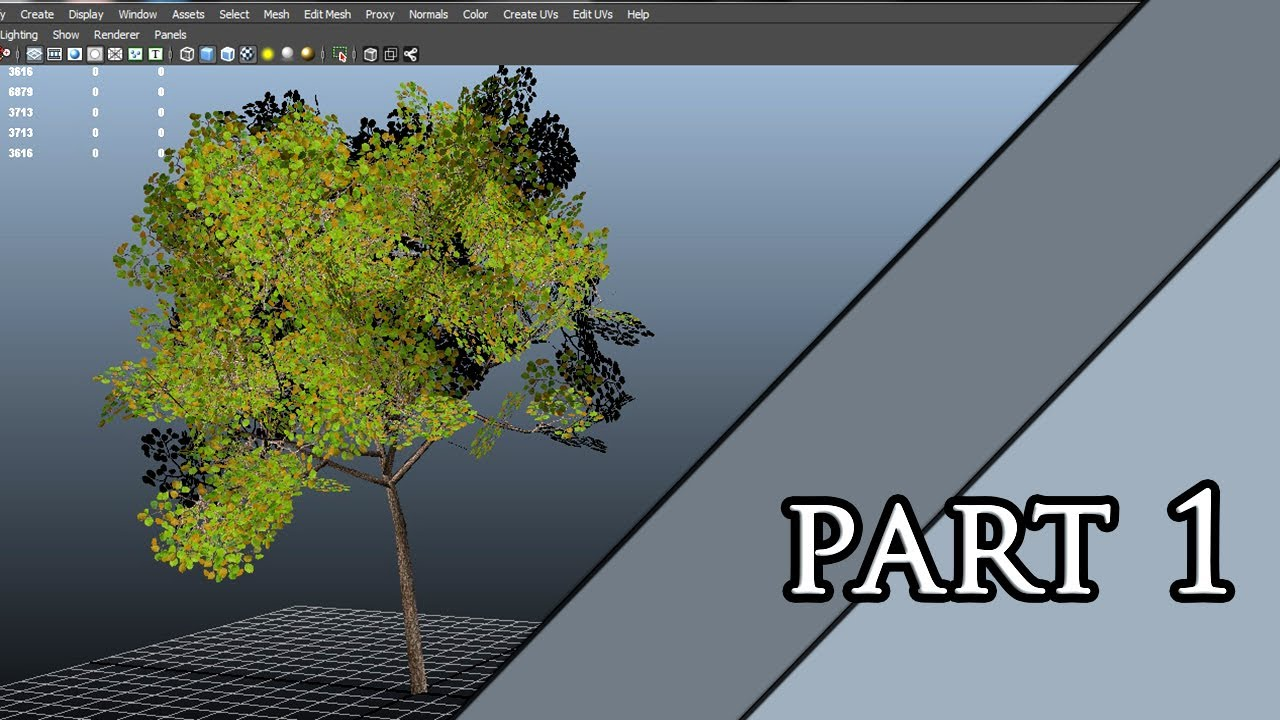 Autodesk Maya 2013 Tutorial - Tree Modeling and Texturing Part 1