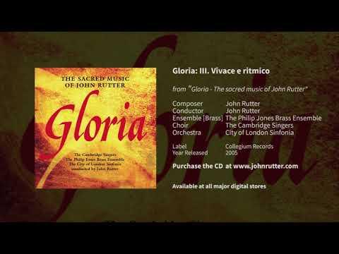 Gloria, 3rd mvt, vivace e ritmico: John Rutter, Cambridge Singers, Philip Jones Brass Ensemble