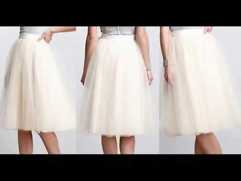 Выкройка юбки из фатина для девочек