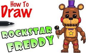 How to Draw Rockstar Freddy | FNAF 6