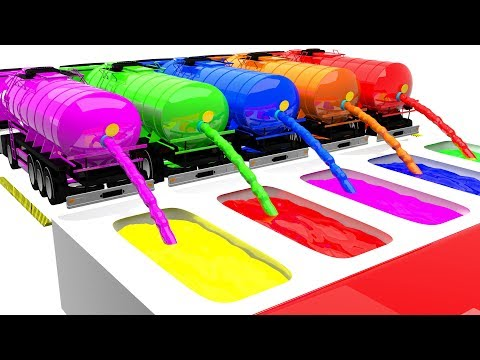 Learn Colors For Children with Water Tank Truck #l Learning Colors with Water Colors Bath for Kids