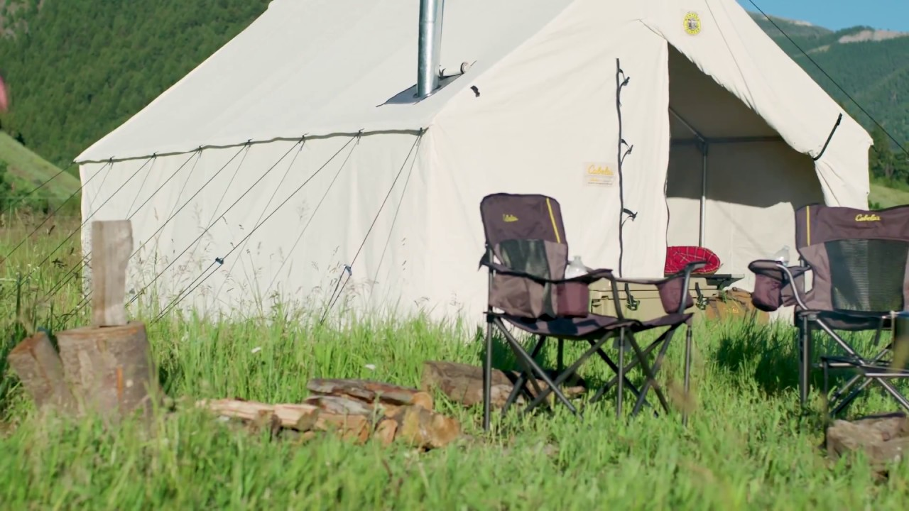 Cabelau0027s Outfitter Wall Tents by Montana Canvas & Cabelau0027s Outfitter Wall Tents by Montana Canvas - YouTube
