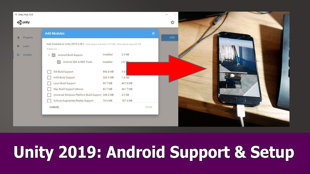 Unity 2019 Android Support: Setup, SDK & NDK