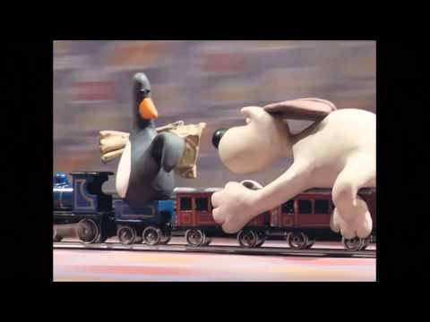 Wallace and Gromit - The Wrong Trousers | The Train Chase (HD)