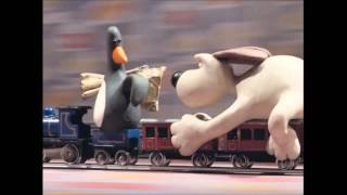 Wallace and Gromit - 'The Wrong Trousers' | The Train Chase (HD)