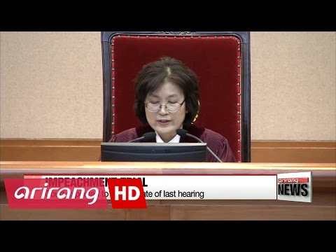 Date of last impeachment hearing hinges on President Park