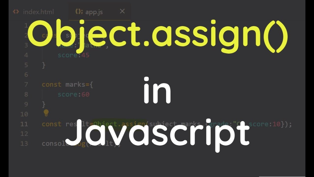 How to use Object.assign() Method in JavaScript