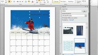 How to make a Calendar using Microsoft word 2010
