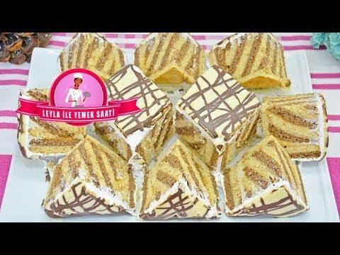 HAYATIMDA YAPTIĞIM EN KOLAY PASTA OLDU DİYEBİLİRİM / Bisküvili Kolay Yıldız Pasta