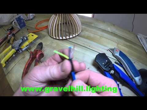 HOW TO STRIP WIRES ON ELECTRICAL CABLE & FABRIC COLOURED FLEX