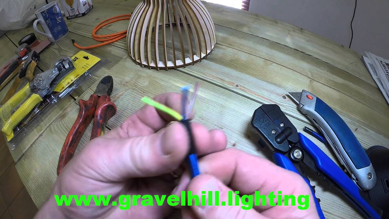 HOW TO STRIP WIRES ON ELECTRICAL CABLE & FABRIC COLOURED FLEX - YouTube