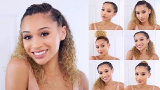 7 Easy Spring/Summer Hairstyles for Curly Hair