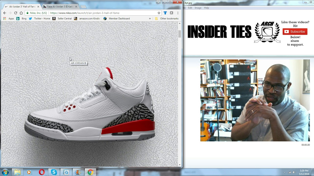 cheaper a3c89 86b0c Air Jordan 3 Retro Hall of Fame aka Katrina   Authentic Verification
