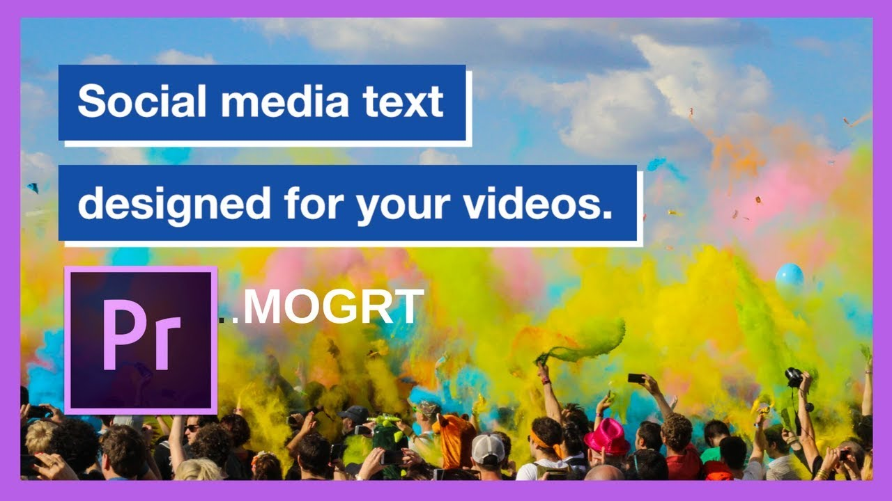 Animated Social Media On Screen Text For Square Videos Promo Youtube