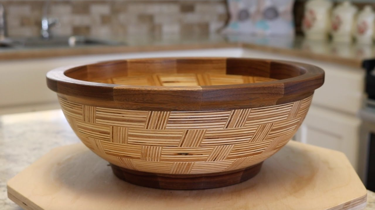 Basket Weave Bowl From Plywood Youtube