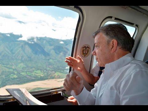El Presidente Santos realiza su primer visita a Hidroituango | Noticias Caracol