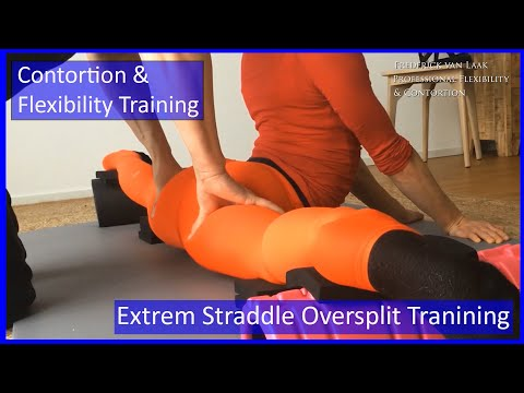 Contortion Training by Flexyart 137: Extrem Overstraddle   - Also for Yoga, Poledance, Ballet, Dance