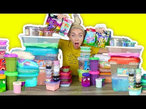 MIXING 40 DIFFERENT SLIMES GIANT Slime Smoothie!   MUST WATCH SO SATISFYING