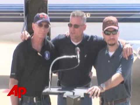Rescued Colombia Hostages Head Home to Fla.