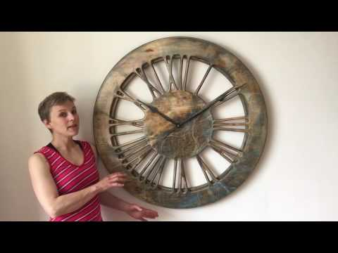 Very Large Modern Skeleton Artistic Clock - Handmade