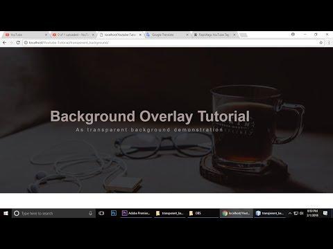HTML & CSS  Tutorial  Transparent Background