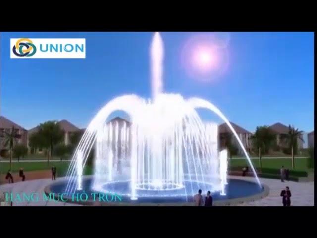 Thiết kế Đài phun nước hồ tròn, đài phun nước vòng xoay