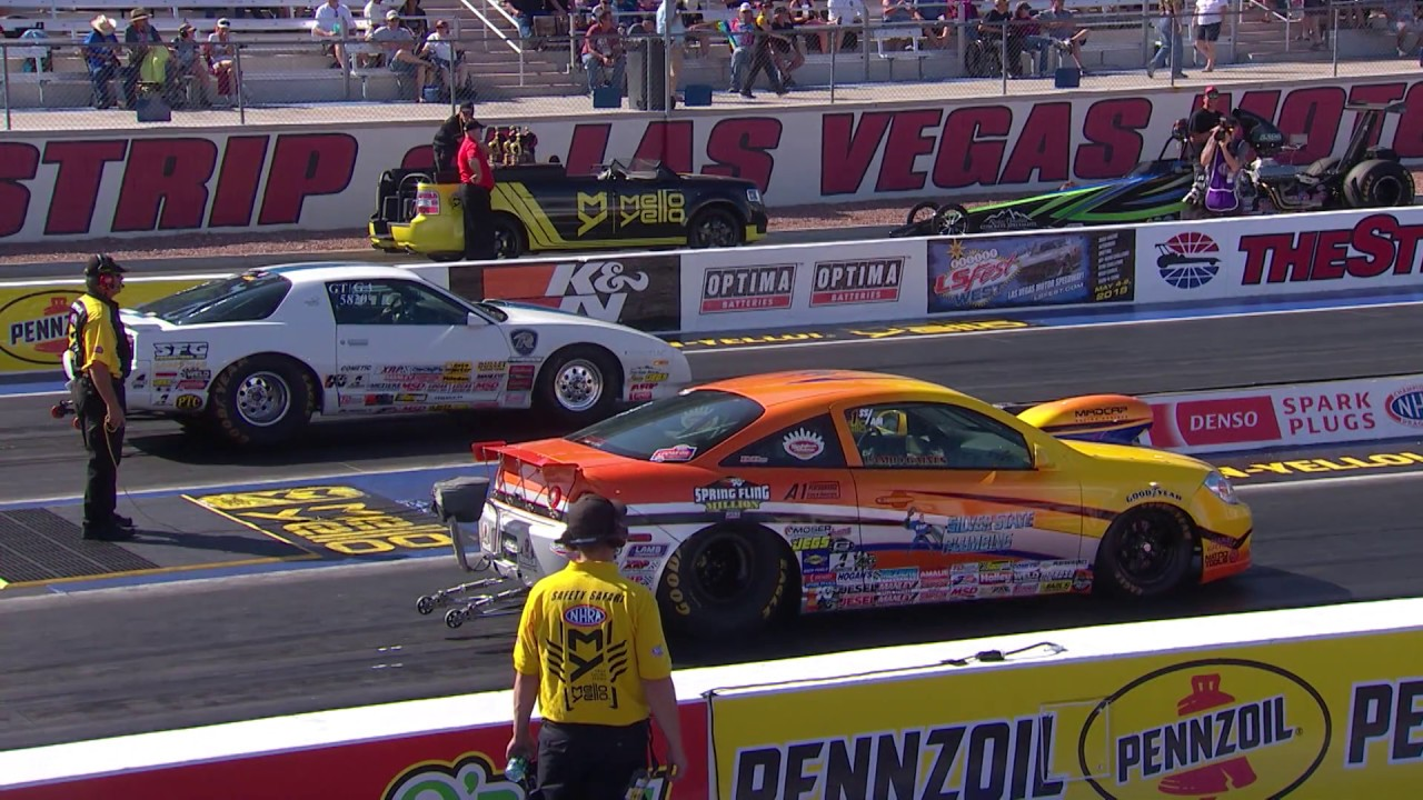 2018 DENSO Spark Plugs NHRA Four Wide Nationals Stock & Super Stock Winner Justin Lamb