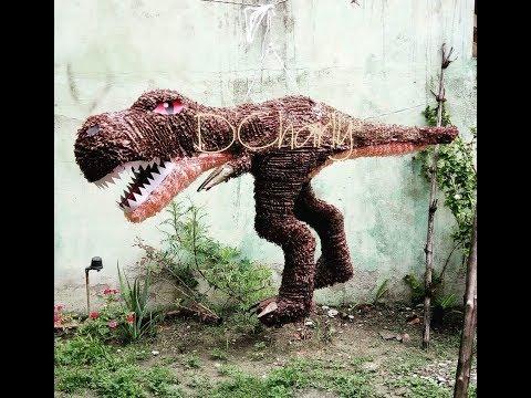Como hacer un dinosaurio t-rex